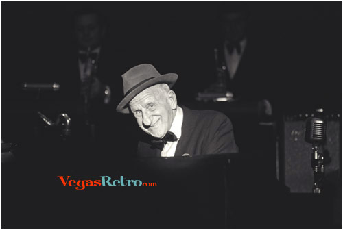 Photo of Jimmy Durante on Stage in Las Vegas