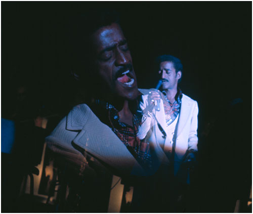 Multiple exposure Photo of Sammy Davis jr  on stage in Las Vegas