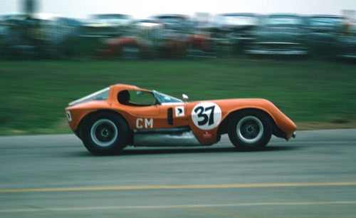 Photo of Robert Scott Hooper racing his prototype Mongoose racecar