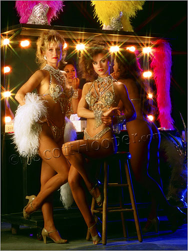 Flamingo Showgirls from City Lights show in Las Vegas