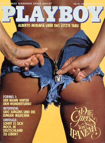 Image on German Playboy cover of butt in jeans