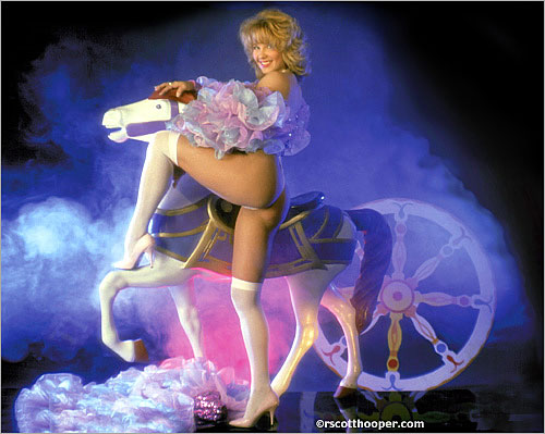 Image of dancer with merry-go-round horse