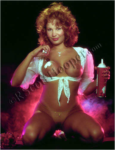 Image of nude girl with whipped cream