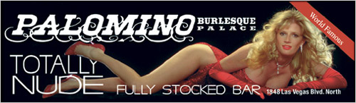 Image of billboard for the Palomino Club burlesque show