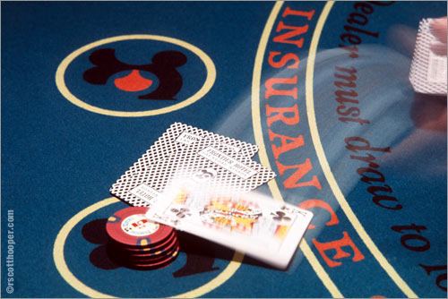 Photo of blackjack game in Las Vegas
