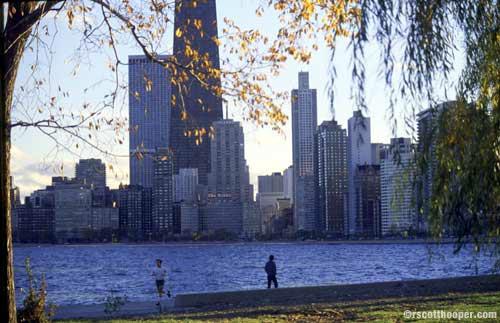 Image of Chicago at Lake Michigan