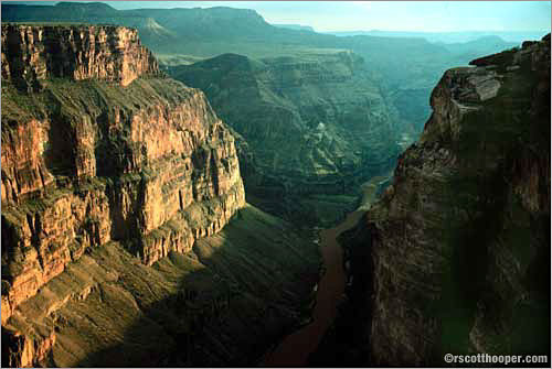 Photo of the inner gorge of the Grand Canyon from Toroweep on the North Rim