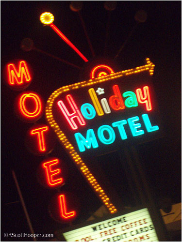 Holiday Motel sign in Las Vegas