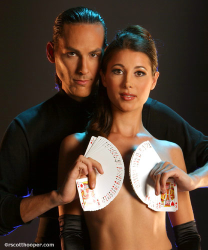 Photo of magician Jason Byrne & Brandy Lee