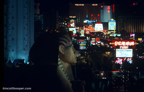 Photo of Luxor Hotel Sphinx on opening nite