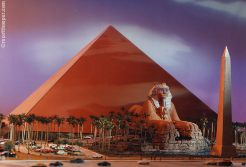 Photo of Luxor Hotel Architectual Model