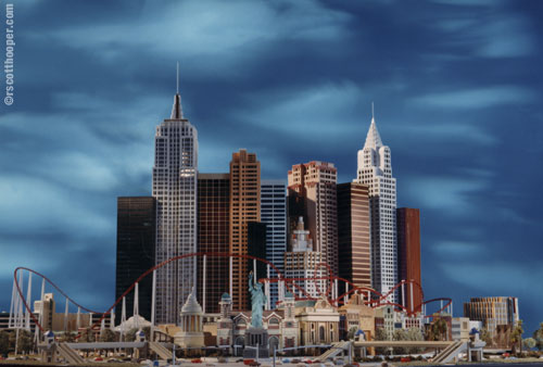 Photo of Las Vegas hotel New York, New York architectural model