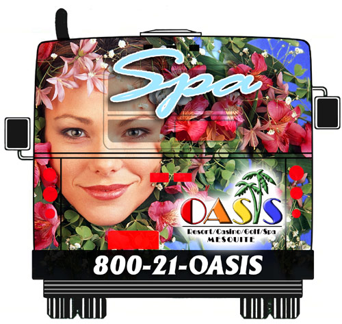 Image of Oasis Hotel Bus Ad