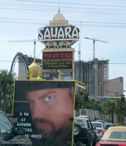 Sahara Ave and the Strip in Las Vegas