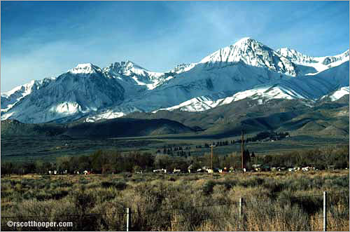 Photo of the Sierra Nevada mountains