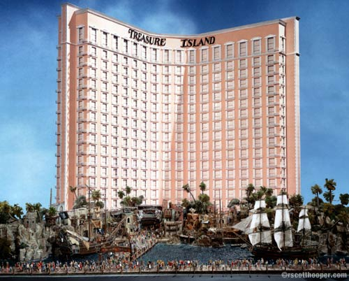 Photo of the Treasure Island hotel model