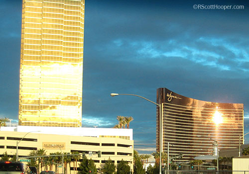 Trump Towers and Wynn Hotel in Las Vegas