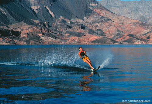 Photo of waterskier at Lake Mead